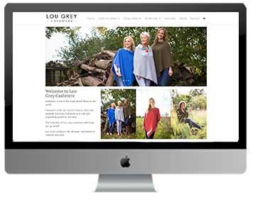 cashmere clothing web design